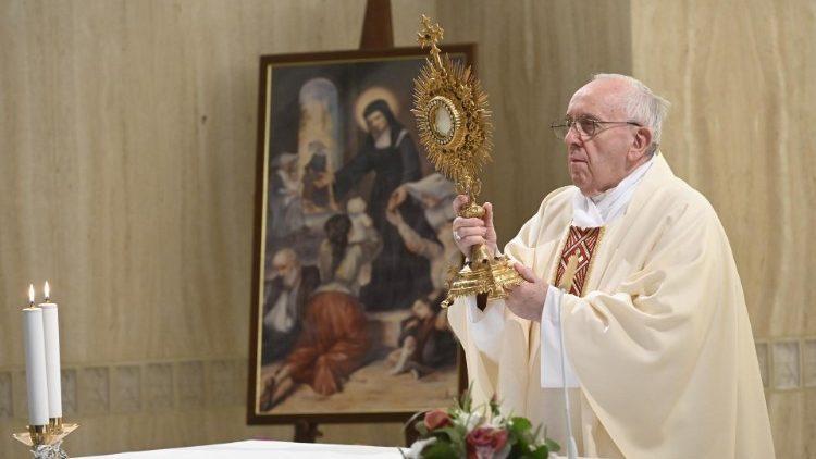 Papa Francisco na Santa Marta