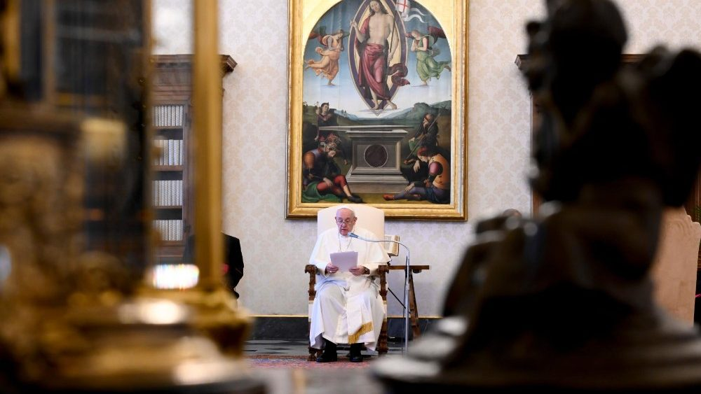 Pope Francis at the weekly General Audience