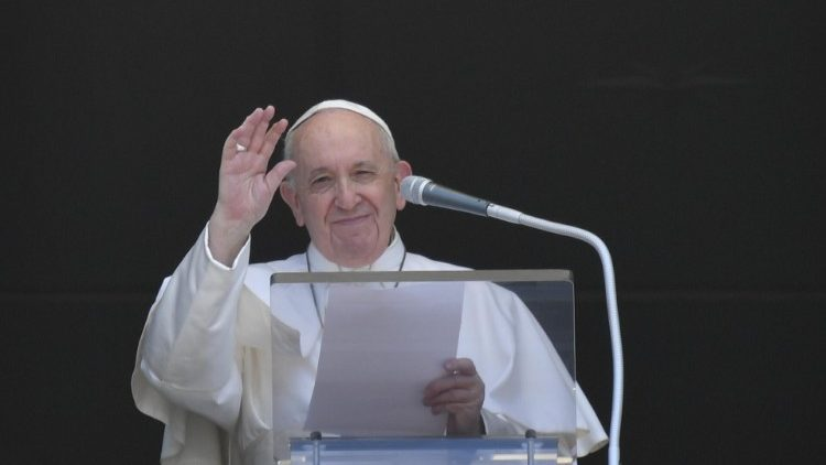 Pope Francis leads the Angelus on Sunday