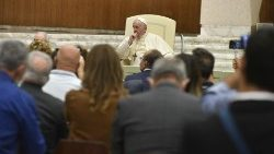 Pope Francis in audience with the Fondazione Banco Farmaceutico