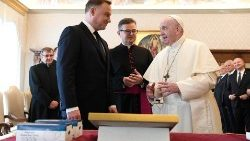 Pope Francis and the President of Poland, Andrezej Duda