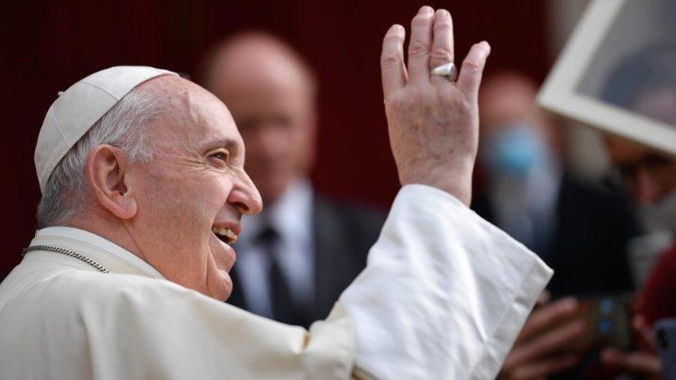 Papa Francisco durante la Audiencia general