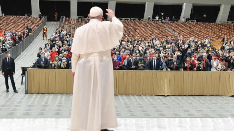 Le Pape lors de l'audience générale ce mercredi 21 octobre 2020