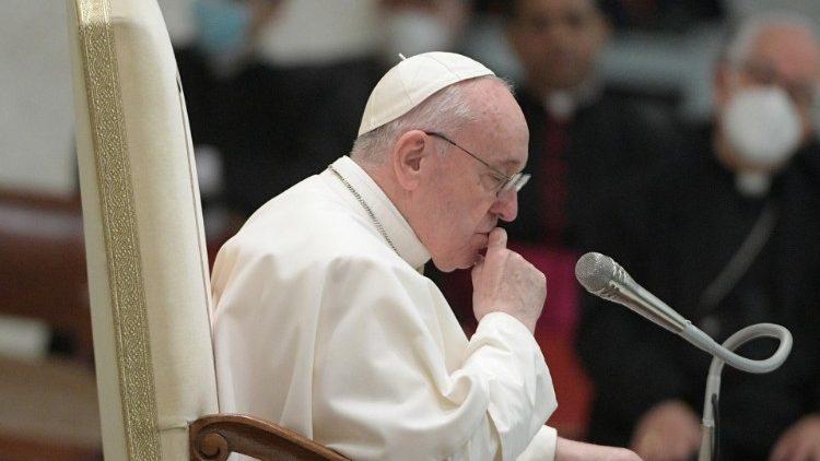 Le Pape François lors de l'audience générale le 28 octobre 2020