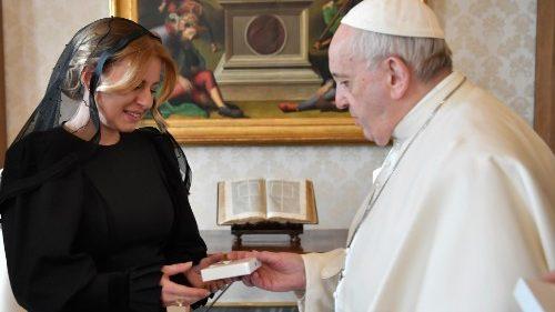 O Papa recebe a presidente da Eslováquia