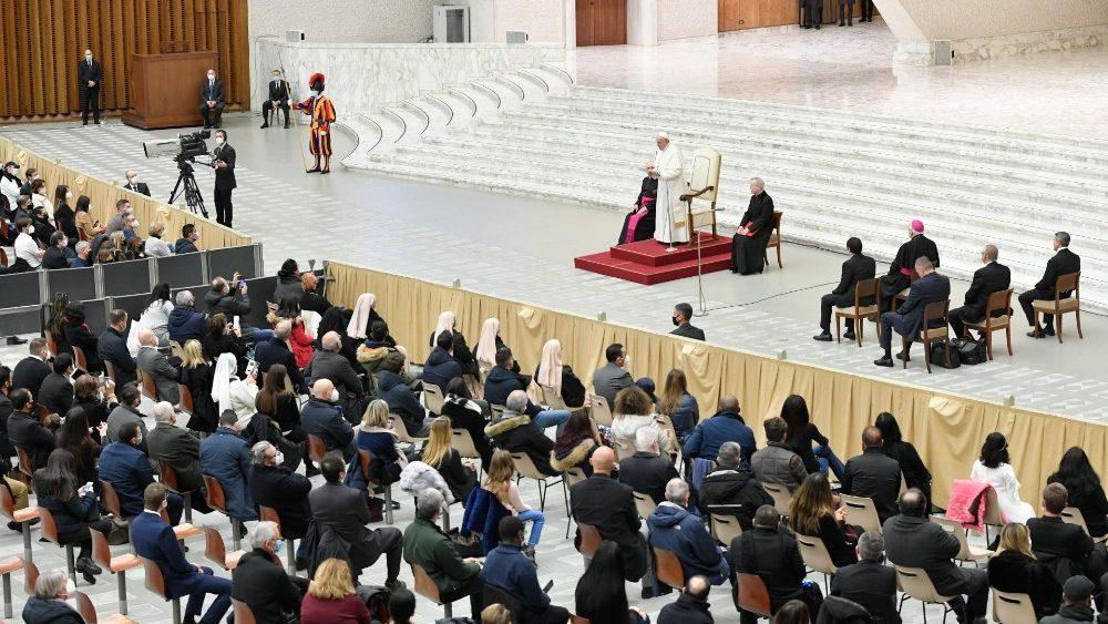 Encuentro del papa con los trabajadores vaticanos