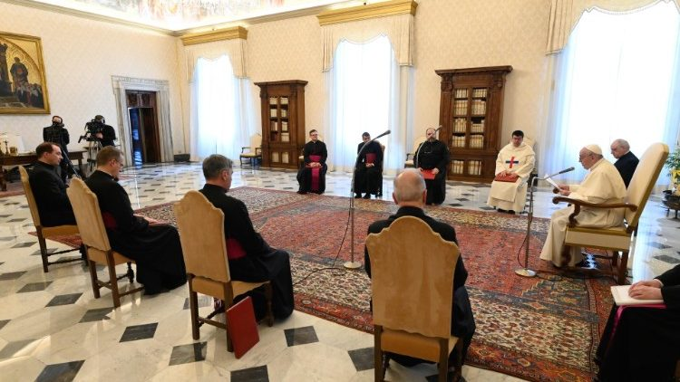 Pope Francis at the general audience of 30 December, 2020.