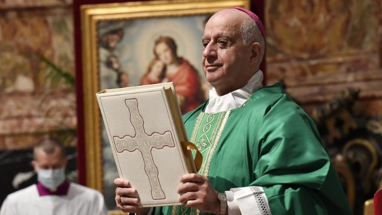 Archbishop Rino Fisichella presides over Mass on Word of God Sunday