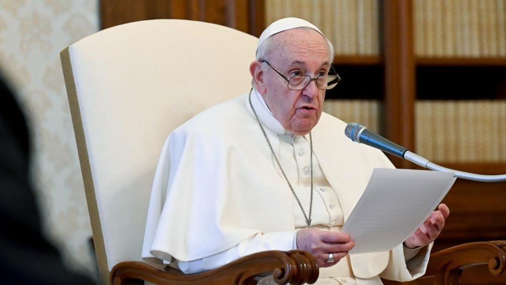 O Papa Francisco durante a Audiência Geral desta quarta-feira