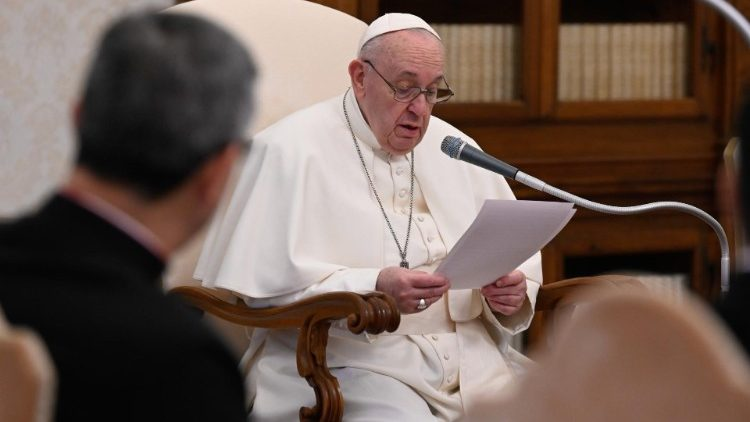 Le Pape François lors de l'audience générale du 10 février 2021.