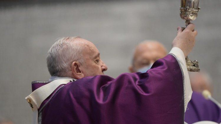 Papa Francisco na Missa da Quarta-feira de Cinzas, 17 de fevereiro de 2021