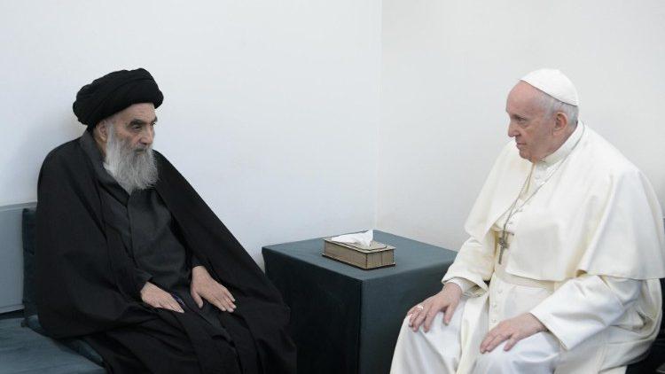 Pope Francis meets Iraq's Grand Ayatollah Al-Sistani - Vatican News