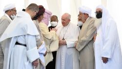 Interreligious meeting in Ur, Iraq during Pope Francis' Apostolic Visit