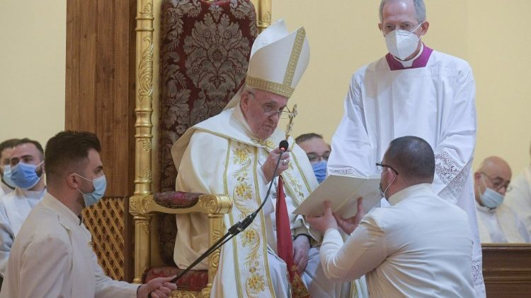 Pope Francis at the Divine Liturgy