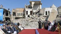 2021.03.07 Viaggio Apostolico in Iraq Preghiera di Suffragio per le vittime della guerra Mosul