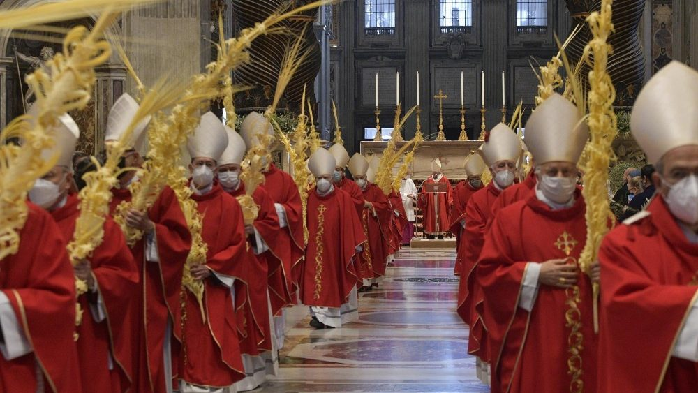 Palm Sunday Mass in Saint Peter's Basilica