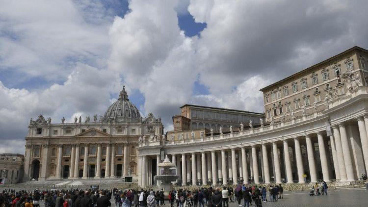 Паломники на площади Святого Петра