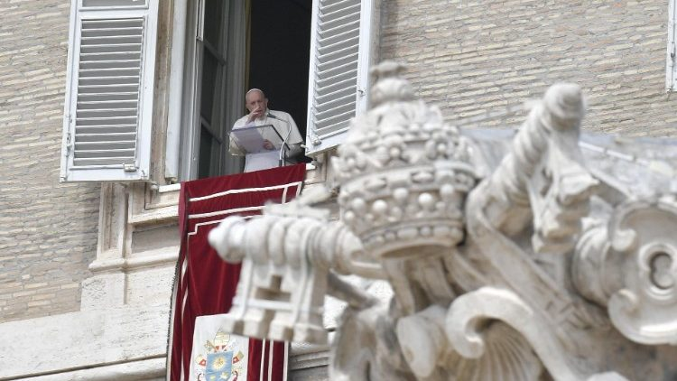 Pope Francis during Regina Coeli