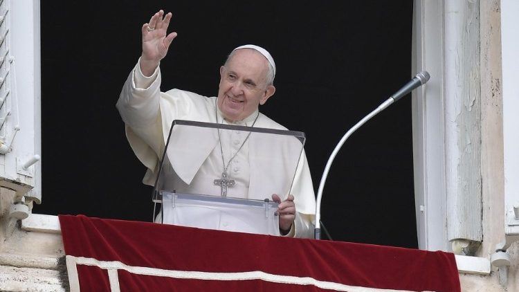 Pope Francis during the Regina Coeli in St. Peter's Square