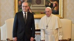 Pope Francis and the President of the Swiss Confederation, Guy Parmelin