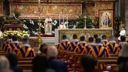 Mass for the Pontifical Swiss Guard, celebrated at the Altar of the Chair of St Peter the Vatican Basilica