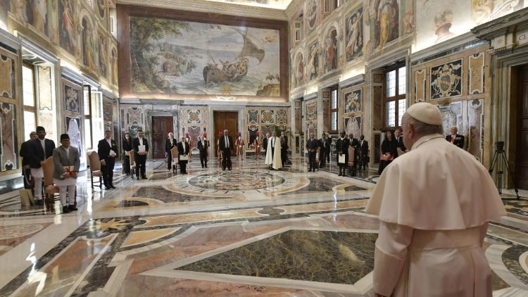 Pope Francis on Friday, received ambassadors from several countries in the Vatican