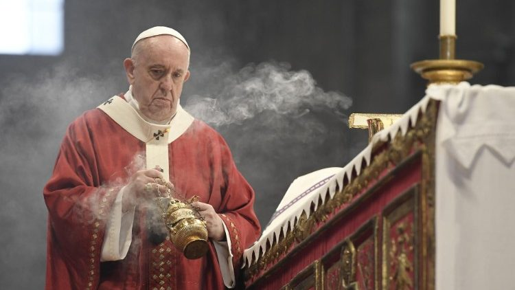 Pope Francis celebrates Holy Mass on the Solemnity of Sts Peter and Paul