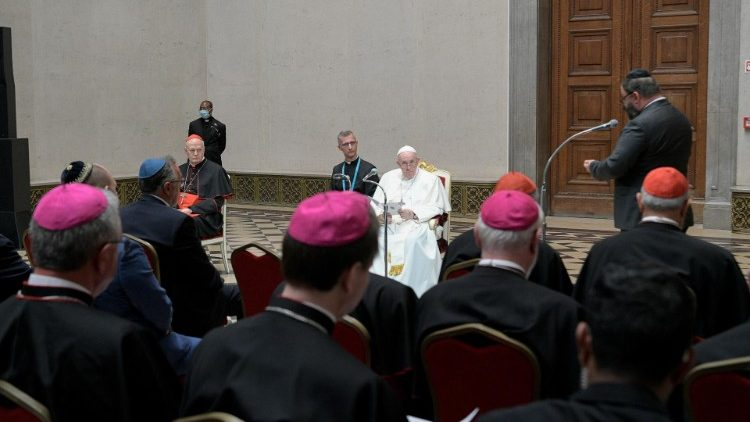 Pope Francis meets the Catholic Bishops of Hungary