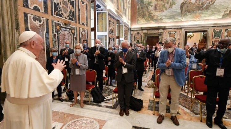 Pope Francis meets participants in the general assembly of the Pontifical Academy for Life.