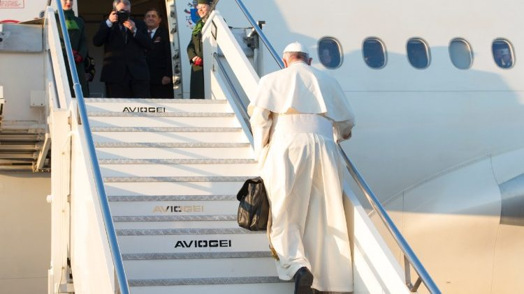 Pope Francis departs for an apostolic journey abroad