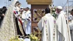 Pope Francis celebrating Mass at Iquique in Chile.
