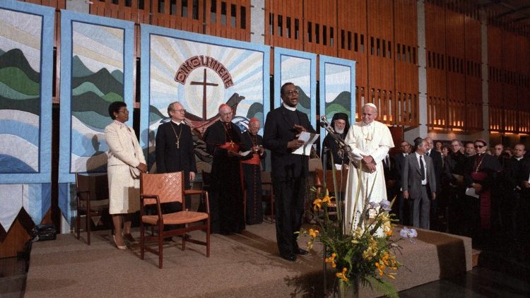St. Pope John Paul II visited the WCC on June 12, 1984.