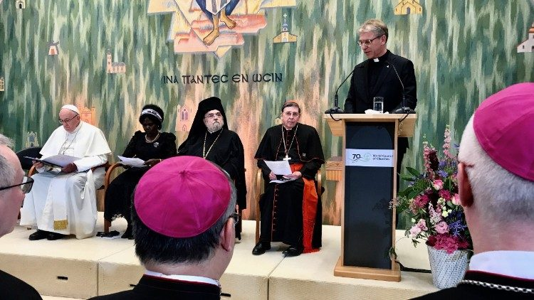 Incontro ecum. 01 intervento Rev. Tveit.JPG