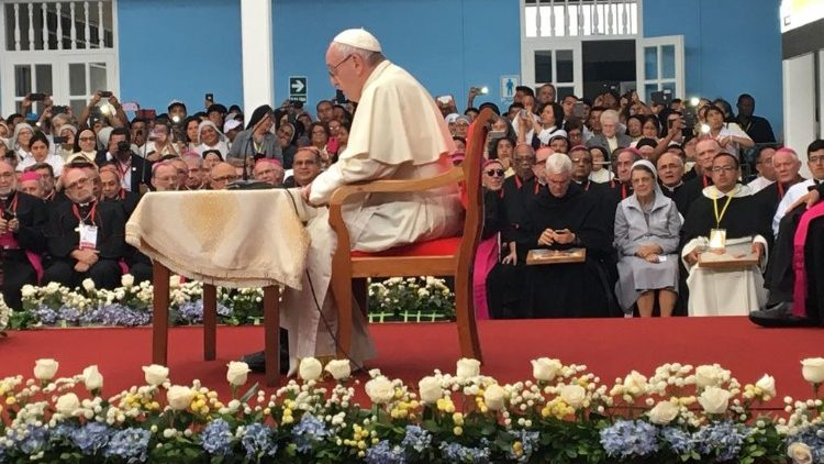 Pope Francis held the meeting in Trujillo's seminary