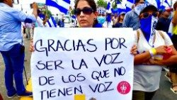 A march in support of the Catholic Church in Nicaragua
