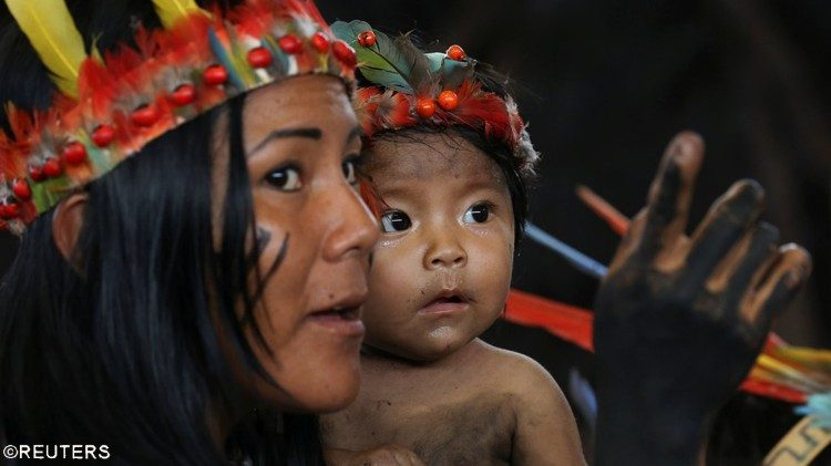 An indigenous mother and child