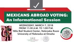 Flier announcing information session for Mexicans voters