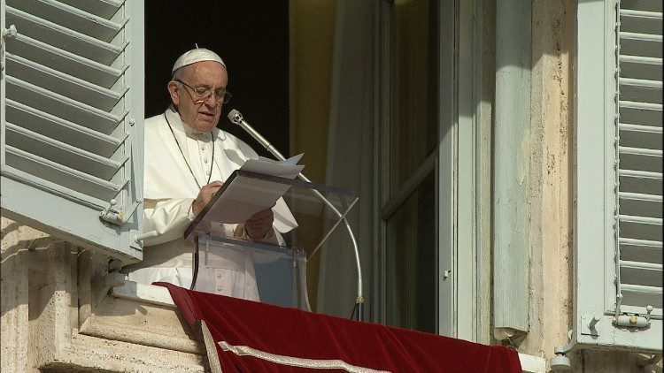 Pope Francis prays the Angelus on the Solemnity of the Immaculate Conception