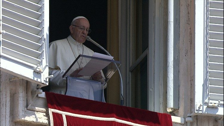 Pope Francis speaks before thousands gathered in St Peter's Square