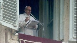 Pope Francis addresses the faithful at the Angelus for the First Sunday of Lent