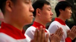 Chinese Christians during Holy Mass