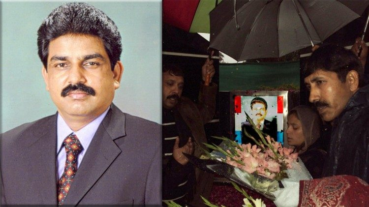 Shahbaz Bhatti, ministre des Minorités religieuses du Pakistan, assassiné le 2 mars 2011 à Islamabad.