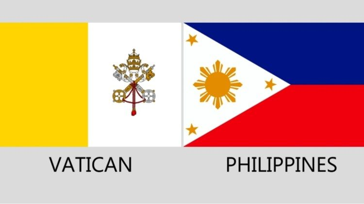 Flags of Vatican and Philippines