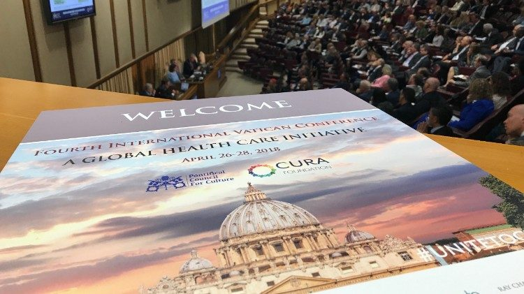 """Unite to Cure"" is a 3-day conference taking place in the Vatican's New Synod Hall"