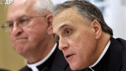 Cardinal Daniel DiNardo (foreground), president of the United States Conference of Catholic Bishops (USCCB)