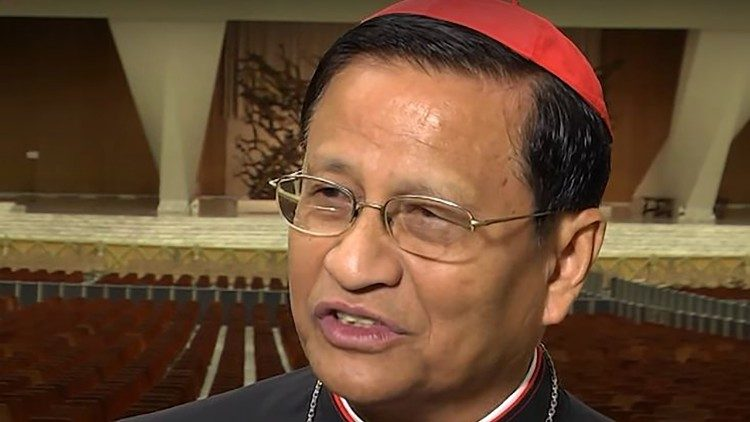 Cardinal Charles Bo of Yangon meets Pope Francis ahead of the papal visit to Myanmar