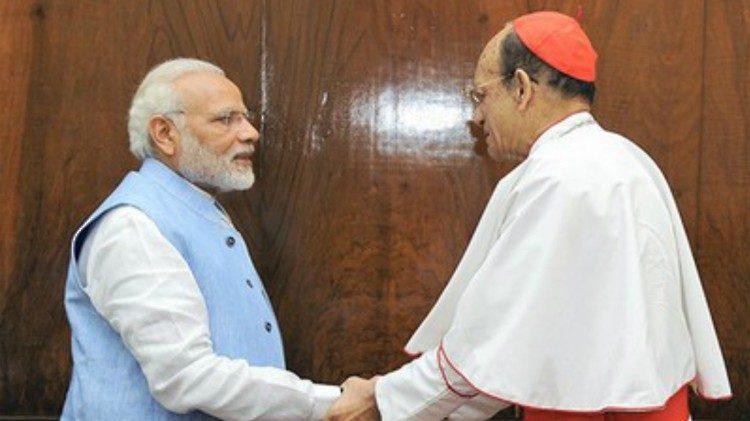 ĐHY Oswald Gracias và thủ tướng Modi của Ấn độ