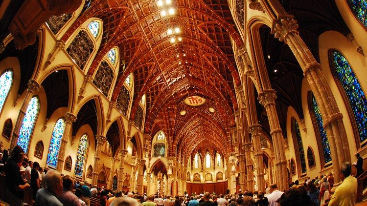 Interior of Holy Name Cathedral, Chicago, IL