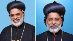 Bishops Samuel Mar Irenios (L) and Yoohanon Mar Theodosius (photo courtesy: Syro-Malankara Catholic Church)