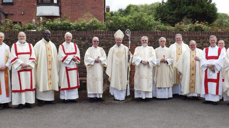 Bishop Paul James Mason, Auxiliary Bishop of Southwark, with priests and deacons from the Kent Pastoral Area